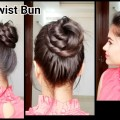 2-min-Twist-bunEveryday-easy-hairstyles-for-medium-to-long-hairindian-hairstylesProjet-Diy