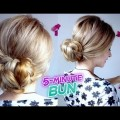 EASY-HAIRSTYLE-5-MINUTE-ELEGANT-BUN-UPDO-WITH-BRAIDS-Awesome-Hairstyles