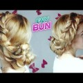 EASY-HAIRSTYLE-CUTE-DOUBLE-ROPE-BRAID-BUN-UPDO-Awesome-Hairstyles