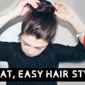 Easy-No-heat-Hairstyles-For-short-hair