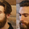 Extreme-Modern-Hair-Beard-Makeover-Transformation-Mens-Haircut-Beard-Tutorial-2017