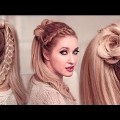 High-Ponytail-Hairstyles-For-Long-Hair-FLOWER-Braided-Goddess-UPDO