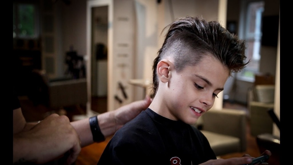 How To Cut A Gorgeous Mohawk Kids Haircut Tutorial Men Hairstyle