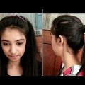 How-To-Make-Hairstyle-For-Girls-At-Home-4-Fast-Simple-Hairstyles-For-Girls-Hairstyles-For-Girls