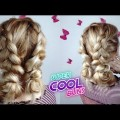 LAZY-HAIRSTYLE-CUTE-DOUBLE-BRAIDED-BUNS-UPDO-Awesome-Hairstyles