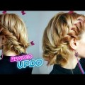 MEDIUM-SHORT-HAIRSTYLE-CUTE-FISHTAIL-BRAID-BUN-UPDO-Awesome-Hairstyles