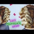 MEDIUM-SHORT-HAIRSTYLE-EASY-FAUX-MOHAWK-STYLE-UPDO-Awesome-Hairstyles
