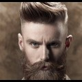 Mens-Hairstyles-Short-Sides-Long-Top-with-Beard