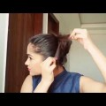 QuickEasy-Messy-Bun-Hairstyle-without-Pins-Rubber-band-Indian-hairstyles-for-medium-to-long-hair