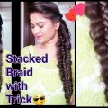 STACKED-BRAIDEveryday-easy-hairstyles-for-medium-to-long-hairindian-hairstylesProjet-Diy