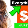 TESTING-3-Hairstyles-using-ONLY-1-DOLLAR-TREE-Hair-ProductsProjet-Diy