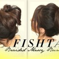 VOLUMINOUS-BRAIDED-MESSY-BUN-TUTORIAL-CUTE-HAIRSTYLES-FOR-MEDIUM-LONG-HAIR-SCHOOL-PROM-WEDDING