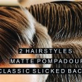 2-Hairstyles-Short-Matte-Pompadour-Shiny-Classic-Slicked-Back-Hairstyle-Side-Part-1