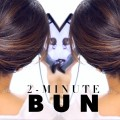 2-Minute-Elegant-BUN-Hairstyle-EASY-Updo-HairstylesProjet-Diy