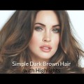 50-Simple-Dark-Brown-Hair-Women-Hairstyles-with-Highlights