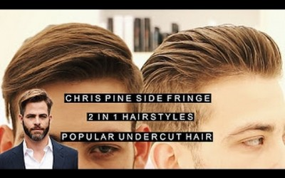 Chris-Pine-Side-Fringe-2-in-1-Mens-Hairstyles-Popular-Undercut-Hairstyle