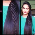 Hairstyles-for-medium-to-long-hair-_Rope-waterfall-half-updo-Indian-party-hairstylesProjet-Diy