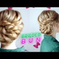 MEDIUM-SHORT-HAIR-HAIRSTYLE-CUTE-ELEGANT-BRAIDED-BUN-UPDO-Awesome-Hairstyles