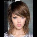 Medium-Length-Haircut-Tutorial-Pretty-Shaggy-Hair-with-Side-Bangs-Popular-Hairstyles