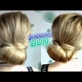 SUPER-EASY-HAIRSTYLE-QUICK-2-MINUTES-ELEGANT-LOW-BUN-UPDO-Awesome-Hairstyles