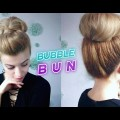 SUPER-EASY-HAIRSTYLE-QUICK-BUBBLE-BUN-UPDO-Awesome-Hairstyles