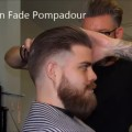 Slick-Back-Skin-Fade-Pompadour-Haircut-With-Awesome-Beard-Style-Popular-Hairstyles