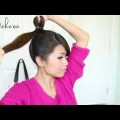 1-Minute-Perfect-Fan-Bun-Updo-Hairstyle-Hair-Tutorial