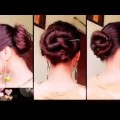 2-party-hairstyles-for-long-hair-with-bunstick-Messy-bun-indian-hairstyles