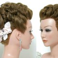 Bridal-hairstyle-for-long-hair-tutorial.-Wedding-updo.