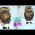 CUTE-HAIRSTYLE-FOR-MEDIUM-HAIR-OR-LONG-HAIR-BRAID-DETAIL-BUN-UPDO-Awesome-Hairstyles