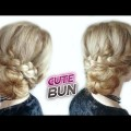 CUTE-HAIRSTYLE-FOR-MEDIUM-OR-LONG-HAIR-LACE-BRAIDED-BUN-UPDO-Awesome-Hairstyles