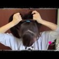 Everyday-Perfect-Bun-Updo-Hairstyle-for-Medium-Long-Hair-Tutorial