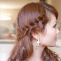 Hair-Tutorials-for-Best-Hairstyles-Side-braided-bangsfringe-hairstyle-compilation-2017