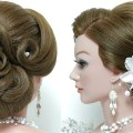 Hairstyle-for-long-hair-tutorial.-Wedding-updo