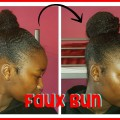 How-To-Faux-Bun-Natural-Hairstyles-For-Short-Hair-Cuban-Twist-Braiding-Hair