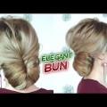 MEDIUM-SHORT-HAIR-HAIRSTYLE-EASY-ELEGANT-BUN-UPDO-Awesome-Hairstyles