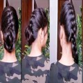 Quick-Easy-Everyday-Hairstyles-for-medium-to-long-hair-Bun-Ponytail-MESSY-BUN-TUTORIAL