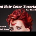 Red-Hair-Color-Tutorial-for-Short-Hairstyles-2017-2018-New-ideas