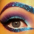 Smokey-Purple-Eye-Purple-Smokey-Eyes-Makeup-With-Brown-Glitter-