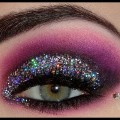 Smokey-Purple-EyeS-Best-Easy-And-Quick-Purple-Makeup-With-Glitter-