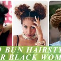 Two-bun-hairstyles-for-black-african-american-women