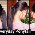 1-Min-PONYTAIL-with-PUFFSummer-Hairstyles-for-schoolcollegeworkIndian-hairstyles