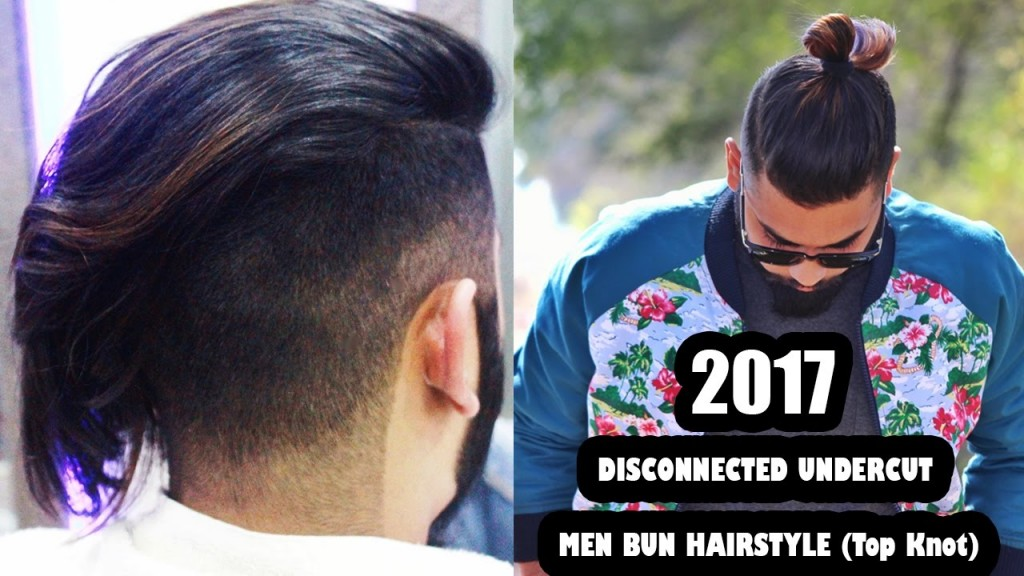 2017 Disconnected Undercut And Men Bun Hairstyle Top Knot