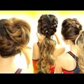 3-Cutest-WORKOUT-HAIRSTYLES-BRAID-SCHOOL-HAIRSTYLES-for-Long-Medium-Hair
