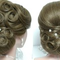 Bridal-updo.-Wedding-hairstyle-for-long-medium-hair-tutorial