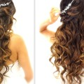 EASY-Wedding-Half-Updo-HAIRSTYLE-with-CURLS-Bridal-Hairstyles-for-Long-Medium-Hair