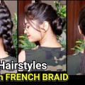 Everyday-Quick-Easy-Hairstyles-with-FRENCH-BRAIDHairstyles-for-medium-to-long-hairBunPonytail