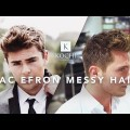 Zac-Efron-Messy-Hair-Medium-Length-Mens-Hairstyle