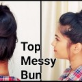 1-Min-Top-MESSY-BUN-for-Oily-Hair-for-Summers-Indian-hairstyles-for-medium-long-hair
