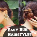 2-Min-EASY-Bun-Hairstyles-For-Medium-Hair-Hairstyles-For-Indian-Wedding-Occasions